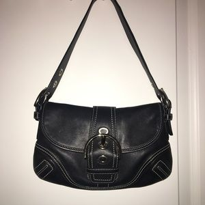 Black Soho Coach Shoulder Bag